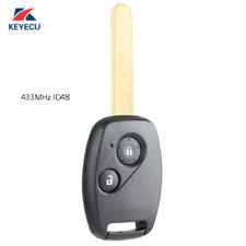 Keyless Entry Remote Key Fob 2 Button 433Mhz ID48 for Honda Civic CRV Jazz HRV