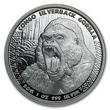2015 Republic of Congo 1 oz Silverback Gorilla Prooflike Coin - SKU #94482