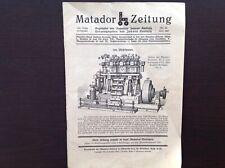 Matador-Zeitung Nr. 34, Sep 1926,16 S., hrsg. von Johann Korbuly, Wien