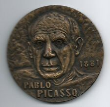 Spanish Painter, Sculptor / Pablo Picasso 1881 / Bronze Medal by J.Moura / M45