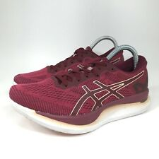 Asics GlideRide Running Shoes Women's Size 8 M Burgundy Pink Trainers 1012A699