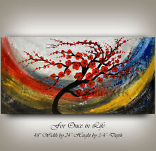 Colorful Tree Painting landscape painting Tree art Signed By Nandita Albright
