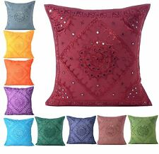 Cover Pillow Case Cushion Decor Home Sofa Square Solid Color Hot Vintage Cotton