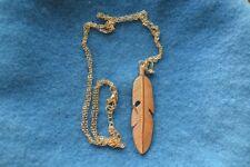 Bijoux fantaisie collier pendentifs sautoir plume d'indien doré breloque