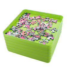 Jigitz Jigsaw Puzzle Sorter Trays - 6PK Plastic Puzzle Organizer Trays in Green