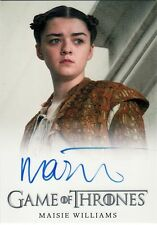 Game of Thrones Season 5 Maisie Williams as Arya Stark Auto Card