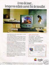 Publicité advertising 1996 Ordinateur Macintosh Apple
