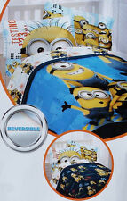 Despicable Me Testing 1 2 3 Blue Full Comforter Sheets 5Pc Bedding Set New
