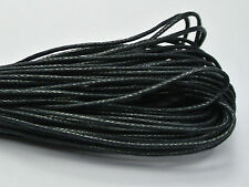500 Meters Black Waxed Cotton Beading Cord 1mm for Bracelet Necklace