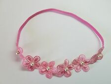 Cute!!!!! Pink Baby Girl Elastic Headband Flower Hair Bow