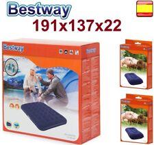 Colchón hinchable MAtrimonial 191 X 137 X 22 cm BESTWAY 2 personas 2 almohadas