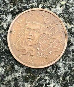 FRANCE 5 cent 1999  SPL  neuve ( VARIETE  avec des traits a la place des points)