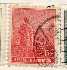 República Argentina 1912 antiguo problema Fine Used 5c. 087413