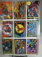 Lot of 9 Vintage 1993 Fleer Marvel Comics Trading Cards