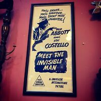 Abbott & Costello Meet The Invisible Man - Original 1951 Daybill Poster - Framed