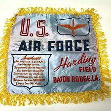 VTG WW2 Satin Pillow case sham Harding Field Baton Rouge US Army Air Force  - P5