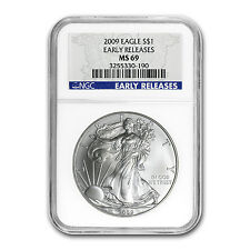 2009 Silver American Eagle MS-69 NGC (Blue Label, Early Release) - SKU #51860
