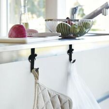 Over Door Hook Stainless Kitchen Cabinet Clothes Hanger Organizer Holder JD