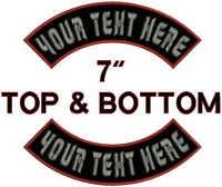 "12/"" x 4.5/"" Harley Orange Border Top Bottom rocker Embroidered Patch"
