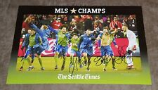 SEATTLE SOUNDERS SIGNED 2016 MLS CUP CHAMPIONS GOAL CELEBRATION POSTER SOCCER