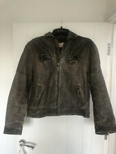 Joe Browns Mens Distressed Vintage Style Leather Jacket M