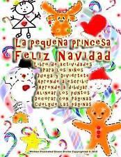 La pequeña princesa Feliz Navidad Libro de actividades Para los niños Juega y Di