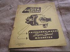 Fairbanks-Morse Super Spark Magnetos Manual