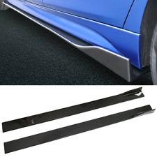 Carbon Fibre 220cm Side Skirt Rocker Panel Splitter For Peugeot 206 207 208 3008