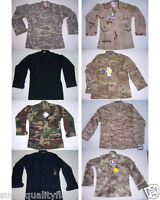 TACTICAL FATIGUE SHIRT ACU CAMOUFLAGE ATACS SOLID MENS BDU COAT SHIRT PROPPER #