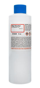 ACS Reagent Grade 95% Denatured Ethyl Alcohol, 8 Ounce - The Curated Chemical