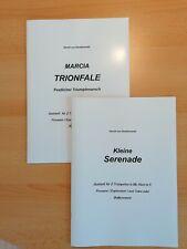 Musiknoten : 2 Quintette für 2 Trompeten, Horn In F, Posaune und Tuba.