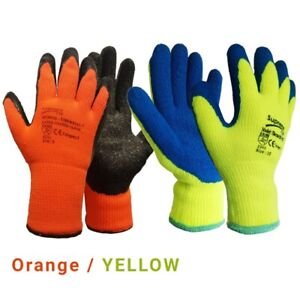 Thermal Insulated Waterproof Winter Work Gloves Fully Latex Coated Cold Safety