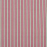 """100% Cotton Quilt Sew Fabric by the Half Yard (18"""") - Ticking Stripe - Pink"""