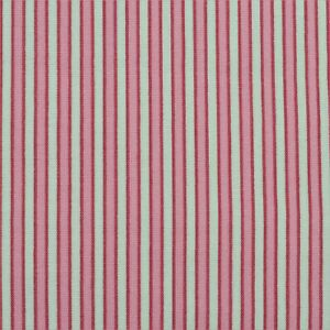 "100% Cotton Quilt Sew Fabric by the Half Yard (18"") - Ticking Stripe - Pink"