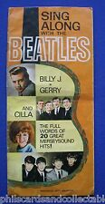 Valentine Comic Free Gift - Sing Along with The Beatles Booklet   1964