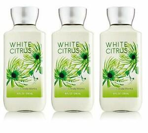 3 Bath & Body Works White Citrus 8.0 oz Body Lotion