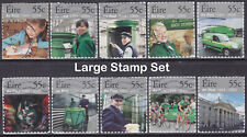 2009 EIRE Ireland Anniversary Of An Post 1984-2009 Large Set Of 10 Used Stamps