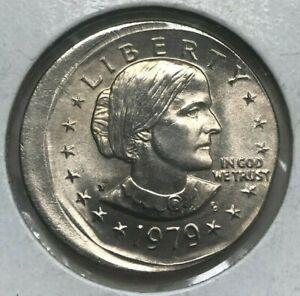 1979 P Susan B Anthony Dollar - Off Center Error - Uncirculated