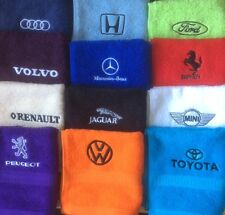 Embroidered personalised car logo design, face flannel/cloth, £3.95 inc P&P