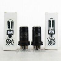 Date Matched Pair RCA USA 6SJ7 Metal Rust Vacuum Tubes 90 & 83%
