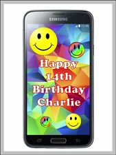 Personalised Samsung Galaxy Mobile Phone Edible Icing Birthday Cake Topper A4