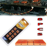 8PCS Copper Cooler Radiator Heatsink Heat Sink for Motherboard Chipset Laptop