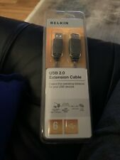 NEW Belkin USB 2.0 Extension Cable 6 Feet