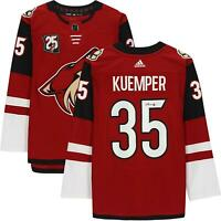 Darcy Kuemper Arizona Coyotes Signed Red Authentic Jersey & 25th Anniv Patch