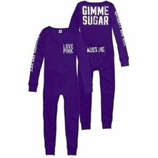 Victorias Secret Pink GIMME SUGAR One Piece Romper Jane Thermal Pajamas NWT S