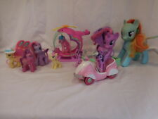 My Little Pony Pinkie Pies Rainbow Helicopter Playset Scooter Ponies and Accesso