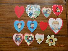 12 Old Valentines Day Cards Heart Shaped