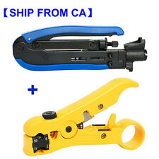 Compression Tool F RG59 RG6 RG11 Connector Cable Coax Coaxial Crimper Stripper C