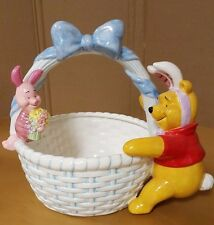 Disney Winnie the Pooh Ceramic Easter Basket