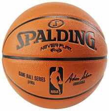 NEW Spalding NBA Never Flat Game Replica Ball Offical Size 29.5 Inch